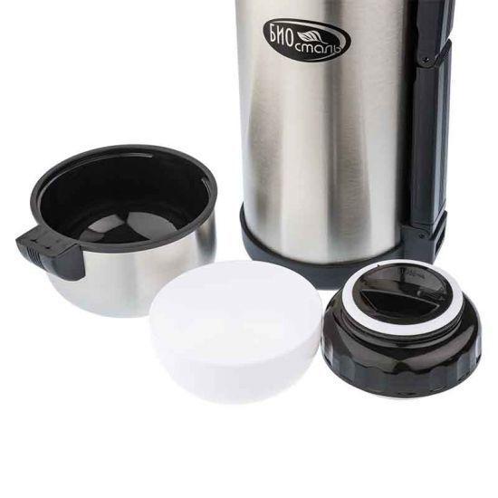 Термос универсальный (для еды и напитков) Biostal (1,8 литра), стальной