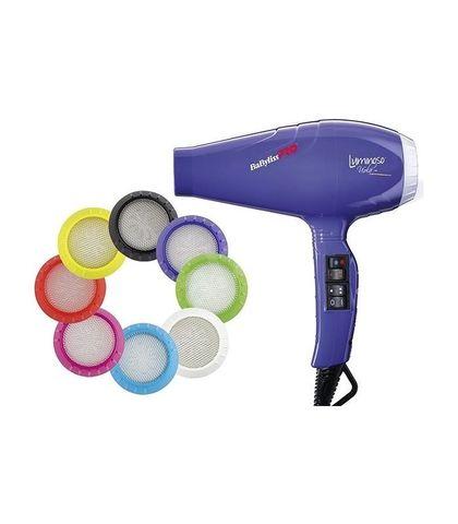Фен BaByliss Pro Luminoso, 2100 Вт, 2 насадки, фиолетовый