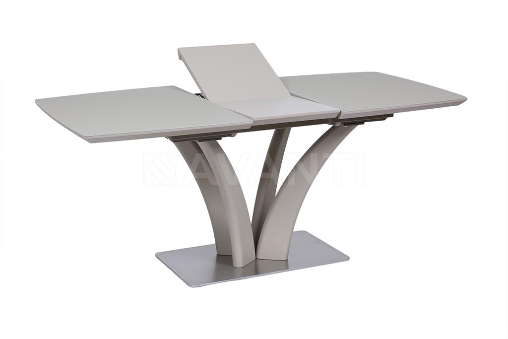 Стол обеденный ORCHIDEA (140) MATT LATTE (латте сатин стекло)