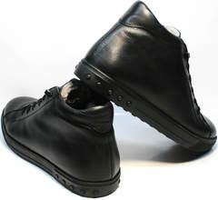 Стильные зимние ботинки мужские кожаные с мехом Ridge 6051 X-16Black