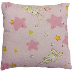 Папитто. Подушка детская файбертек, 40х40 см, розовая