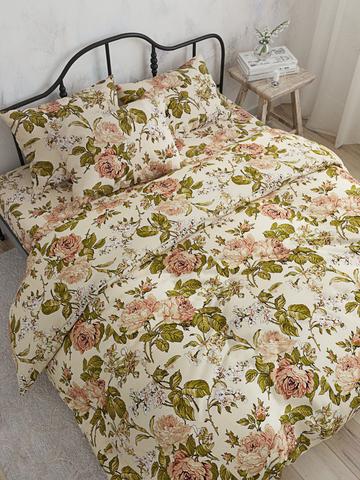 Простынь  -Прохоровская роза- 150х215 см 1,5-спальная
