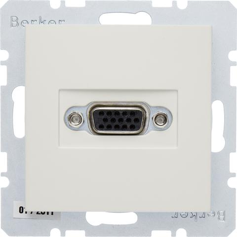 Розетка VGA (подключение к собранному кабелю). Цвет Бежевый. Berker (Беркер). S.1. 3315408982