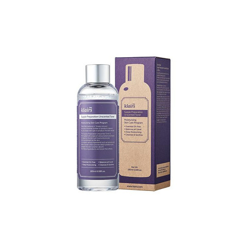 Klairs Supple Preparation Unscented Toner Тонер безмасляный 120 мл