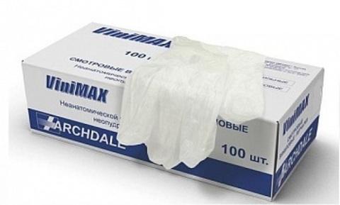 Перчатки смотровые неопуд. виниловые (прозр L)
