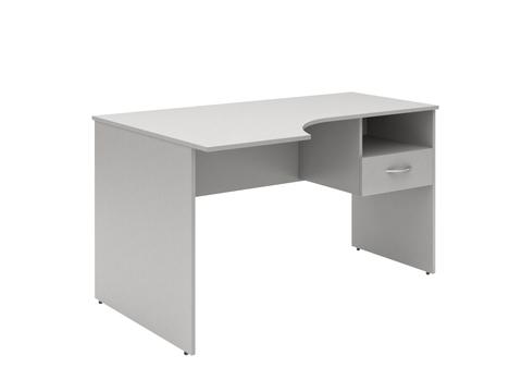 SET140-1(L/R).SC-1V Стол угловой письменный с подвесной тумбой (1400х600х760)