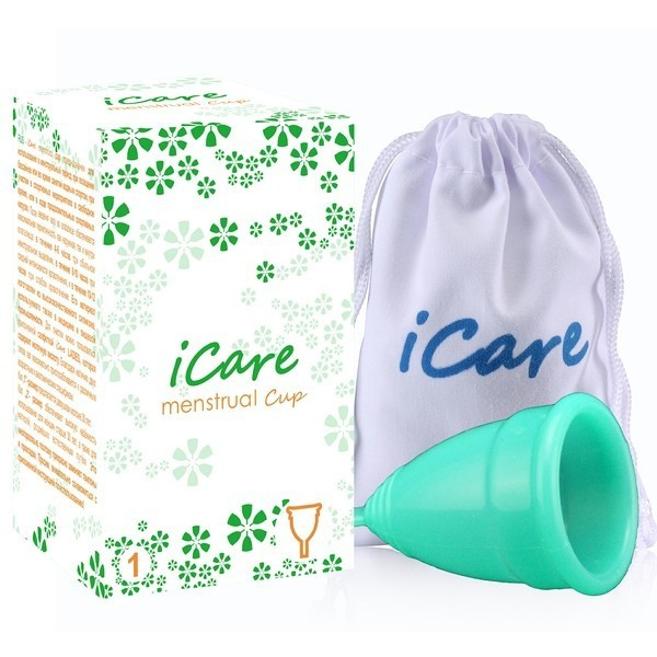 менструальная чаша iCare нежно-салатовая