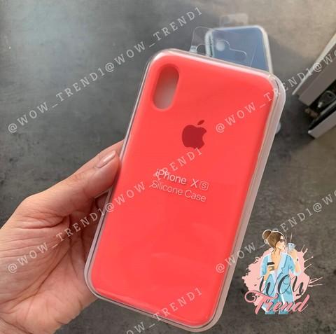 Чехол iPhone XS Max Silicone Case Full /coral/ коралл коралл