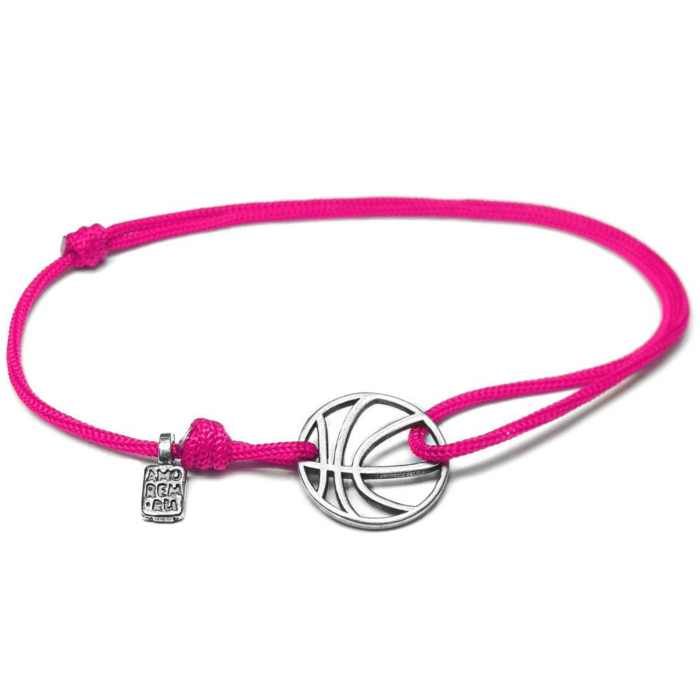 Basketball Bracelet, sterling silver