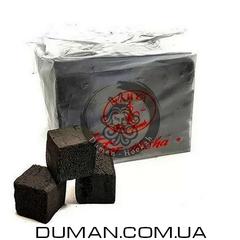 Натуральный кокосовый уголь Yahya (Яхуа) для кальяна   0,5кг 36куб 25*25мм