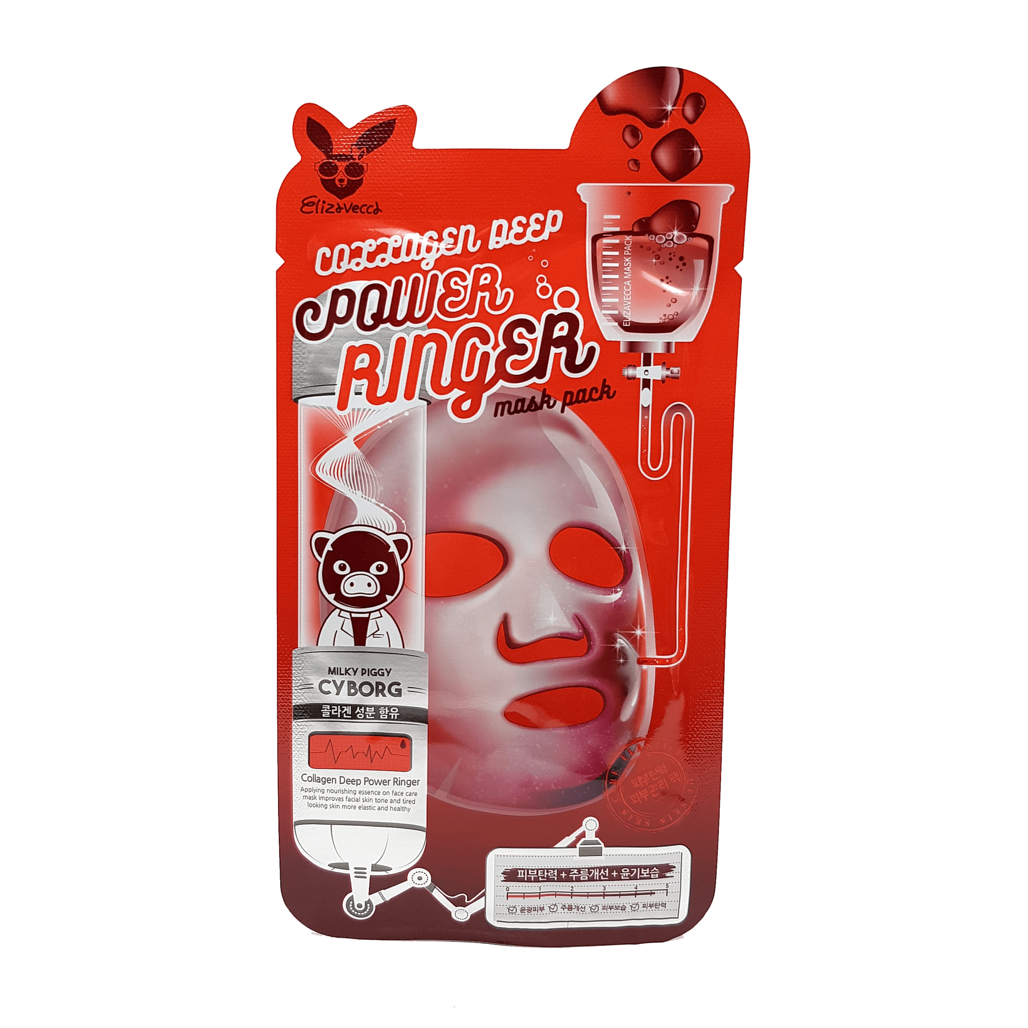 Маска для лица тканевая COLLAGEN Elizavecca Deep Power Ring Mask Pack