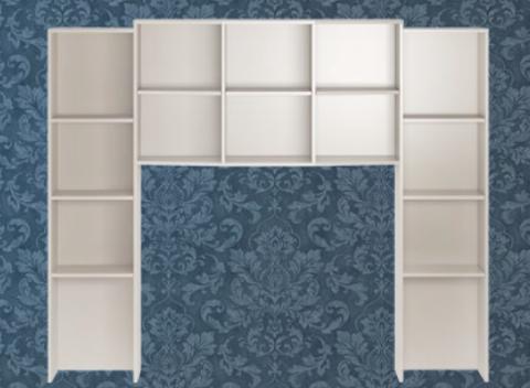 Секция комбинированная Виктория 15 Ижмебель белый глянец