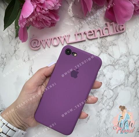 Чехол iPhone 7/8 Silicone Slim Case /purple/