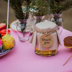 Бонбоньерка с медом на свадьбу, стиль