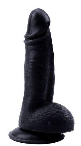 Черный фаллоимитатор Mighty Ravage Penis - 20 см.