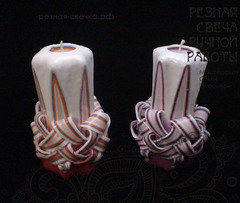 2 Резные свечи - Искры счастья (светодиодные на батарейках) S11SV