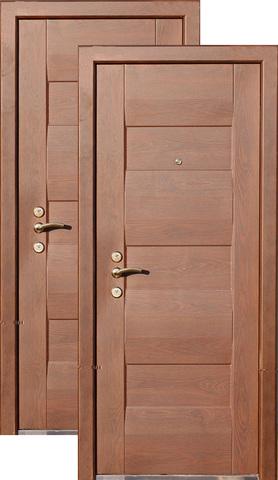 Дверь входная Кайзер Новак, 1 замок, 1,5 мм  металл, (орех+орех)