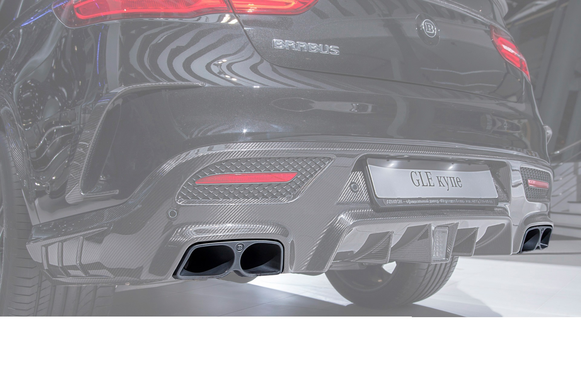 Карбоновые насадки 63 AMG Brabus Style для Mercedes E-class W213