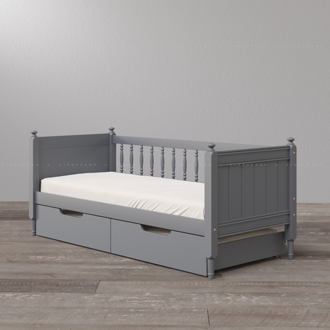 Выдвижная детская двухъярусная кровать. Базовая комплектация.