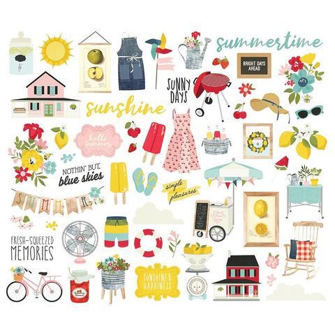 Набор высечек Summer Farmhouse Bits & Pieces  -56 шт