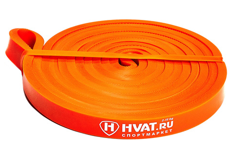 Купить оранжевую резиновую петлю эспандер 2-15 кг для тренировок и фитнеса