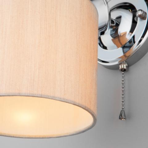 Настенный светильник с абажуром 60111/1 хром