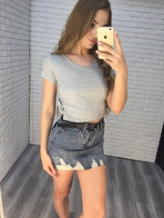 джинсовая юбка с ремнем купить