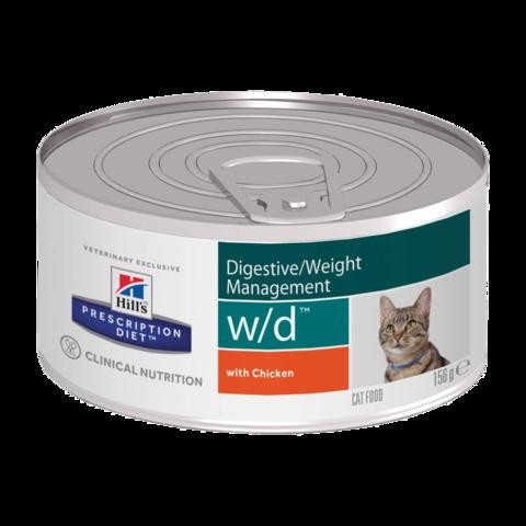 Hill's Prescription Diet W/D Консервы для кошек при сахарном диабете, запорах, колитах и контроле веса (Банка)