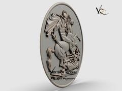 Силиконовый молд № 2286 медальон