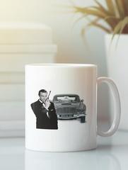 Кружка с рисунком Астон Мартин (Aston Martin) белая 009