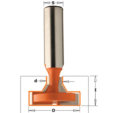 Фреза концевая CMT Т-образный паз D=34,9 I=22,2 S=12,0 L=63,5