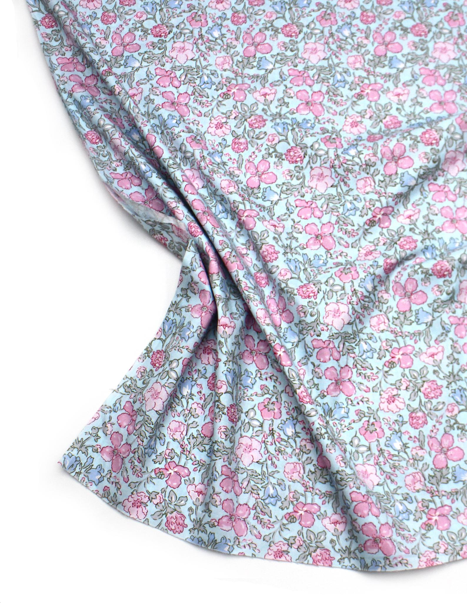 Цветы розово-голубые