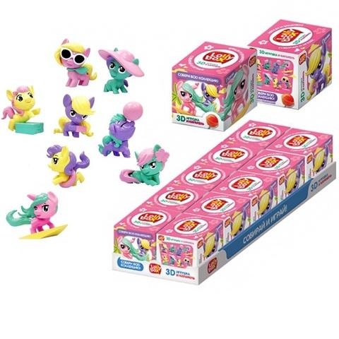 LOLLY BOX ПОНИ Карамель на палочке с игрушкой в коробочке 1кор*12бл*10шт, 11,4г.