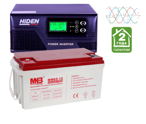 Комплект ИБП HPS20-1012-АКБ MM65 (12в, 1000Вт)