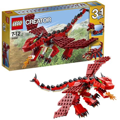 LEGO Creator: Огнедышащий дракон 31032 — Red Creatures — Лего Креатор Творец Создатель
