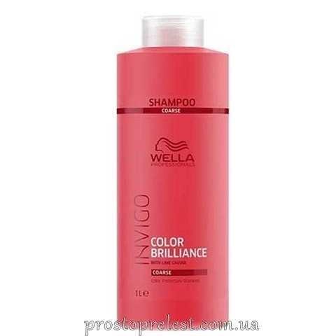 Wella Invigo Color Brilliance Shampoo Coarse - Шампунь для жорсткого фарбованого волосся 1000мл