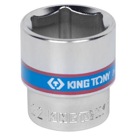 "Головка торцевая стандартная шестигранная 3/8"", 22 мм KING TONY 333522M"