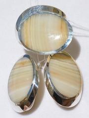 Путорана большая(кольцо + серьги из серебра)