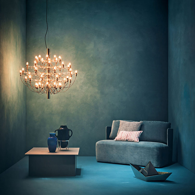 Подвесной светильник копия 2097 30 by Flos (серебряный)
