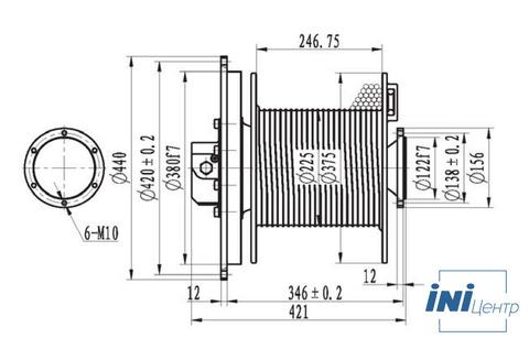 Эвакуационная лебедка IYJ2.52.5-20-126-10-ZPNF