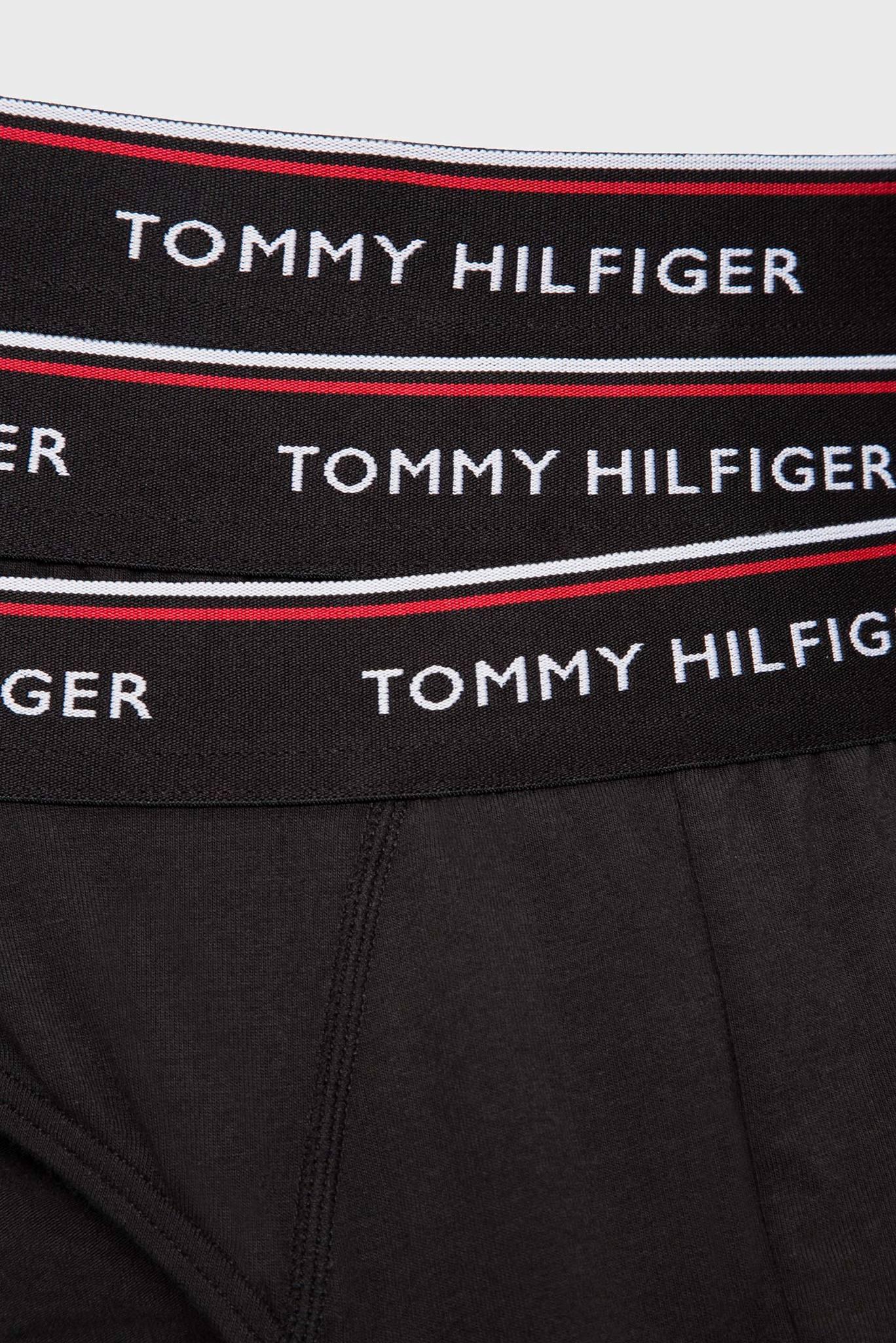 Мужские черные хлопковые брифы (3 шт) Tommy Hilfiger