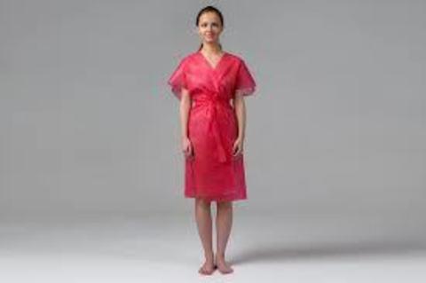 *Халат Кимоно без рукавов (Чистовье/стандарт/спандбонд/розовый/10шт-уп/01-567)