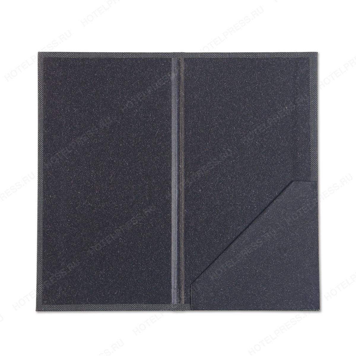 Папка для пречека из комбинации ткани и Кеперы на внутреннем лайнере
