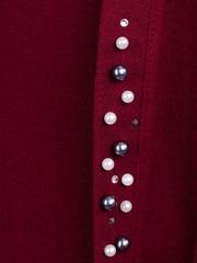 Дона. Жакет+блуза для женщин больших размеров. Бордо.