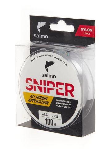 Леска монофильная Salmo Sniper Clear 100м, 0.27мм