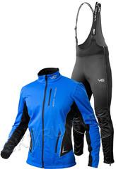 Утеплённый лыжный костюм 905 Victory Code Speed Up Blue A2 с высокой спинкой мужской