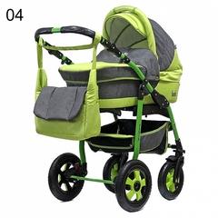 Детская коляска FENIX PCOF (3 в 1) (BartPlast) серый/зеленый 04