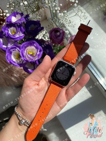Ремешок Apple watch 38mm Hermès New Leather /orange/