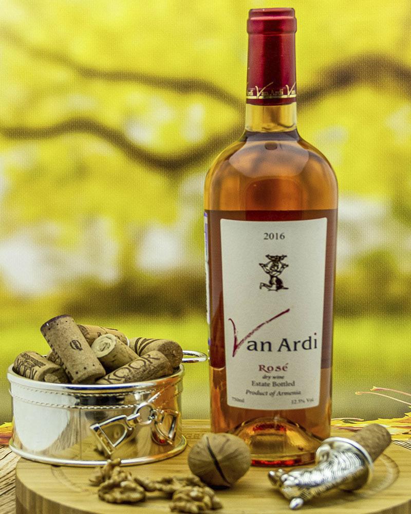 Вино Van Ardi Розовое Сухое 2016 г.у. 12.5% 0,75 л.