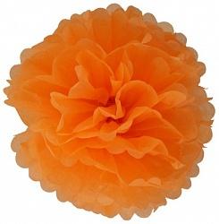 Бумажный помпон Оранжевый